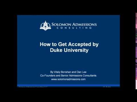 How to Gain Acceptance by Duke University