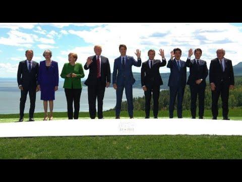 Photo de famille des leaders du G7 au Canada