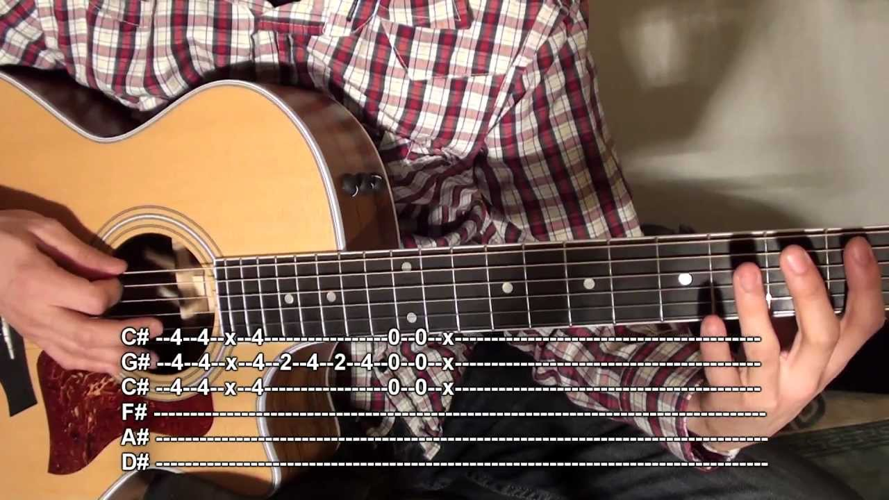 How to play Misery Business Rhythm Acoustic