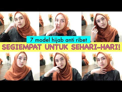 Tutorial Hijab Simple Segi Empat Untuk Wajah Bulat Baru