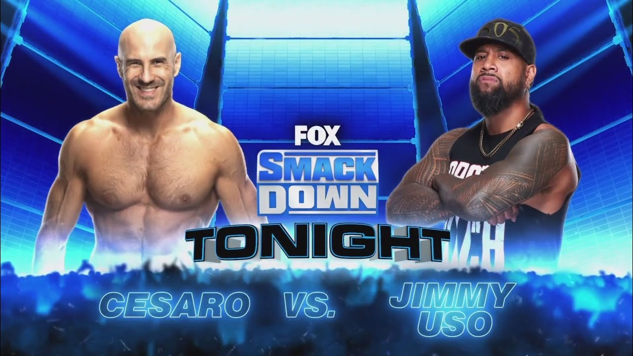 Cesaro vs Jimmy Uso (Full Match Part 1/2)