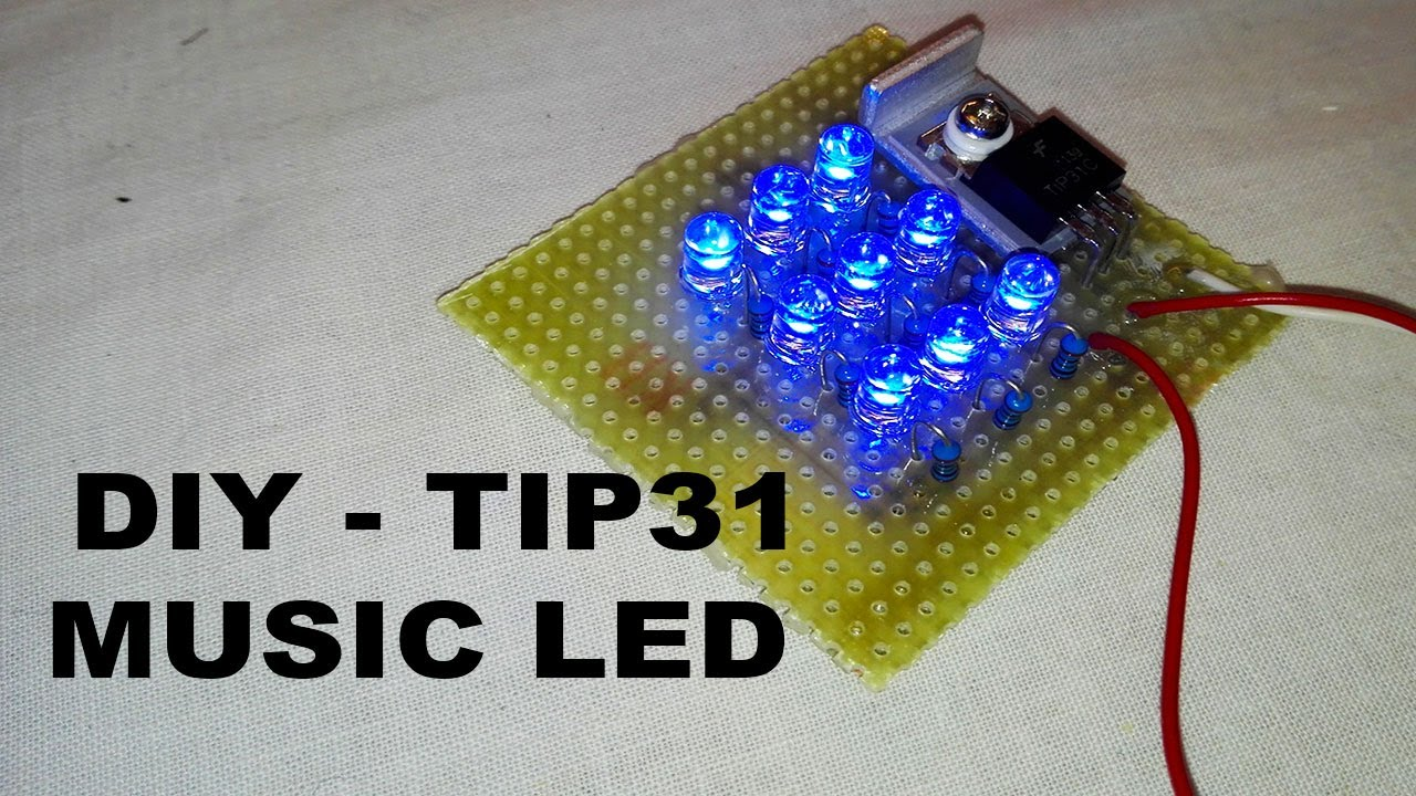 diy music led with tip31 (electric diagram in video) by steHobby Schematics How To Make Sound Reactive Led #18