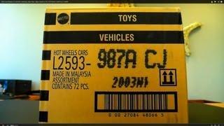 2014 Hot Wheels A CASE!!! unboxing video feat. Datsun 620 & THE JETSON'S CAPSULE CAR!!!