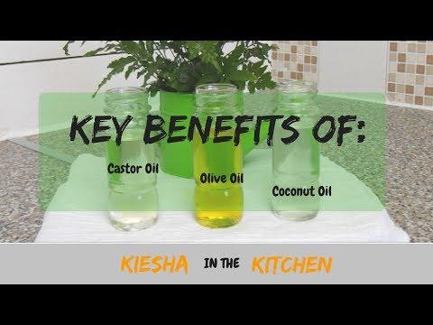 CARRIER OILS: CASTOR OIL, COCONUT OIL AND OLIVE OIL {KIESHA ARIELLE}