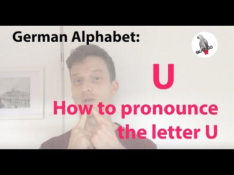 German alphabet (U): how to pronounce the letter U
