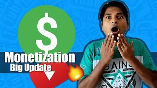 Good News For all New YouTubers Pending Monetization Update For You