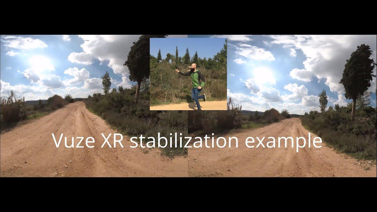 Vuze XR Stabilization example