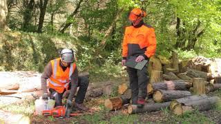 ECC1 Video 6 – Démarrer et laisser chauffer le moteur de la tronçonneuse