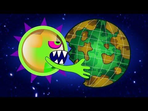 ЭТО КОНЕЦ! ХИЩНАЯ СЛИЗЬ съедает Нашу Планету и СОЛНЦЕ Последняя серия ИГРЫ Mutant Blobs Attack