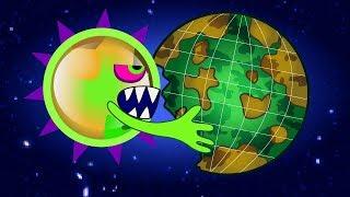 ЭТО КОНЕЦ ХИЩНАЯ СЛИЗЬ съедает Нашу Планету и СОЛНЦЕ Последняя серия ИГРЫ Mutant Blobs Attack