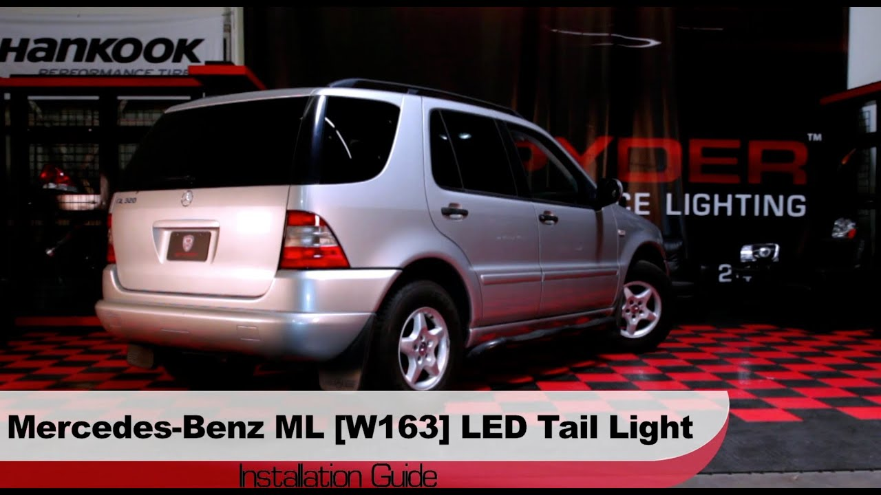 spyder auto installation 1998 2005 mercedes w163 ml class led tail lights youtube. Black Bedroom Furniture Sets. Home Design Ideas