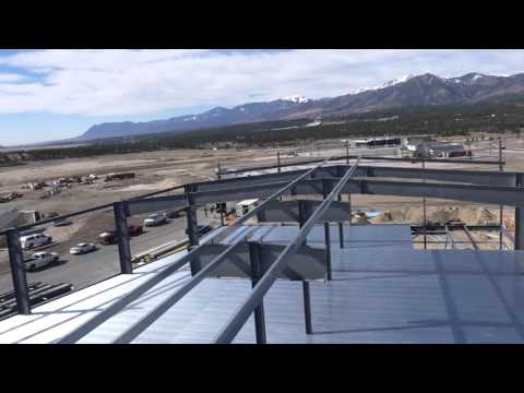 Armstrong Steel Building Drone Flyover - 68,000 sf - Overdrive Raceway, Colorado Springs, Colorado