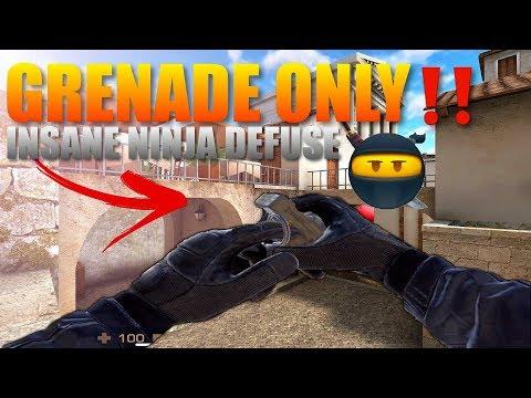 Standoff 2  Grenade Only Insane Ninja Defuse‼️