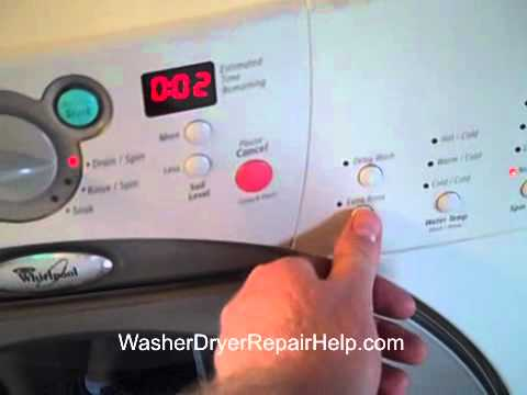 How To Put Your Whirlpool Duet Washer Into Diagnostic Mode