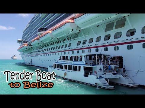 Tender boat Ride To Belize City | Carnival Vista