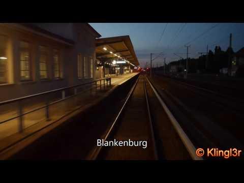 S-Bahn Berlin Führerstandsmitfahrt Pankow Heinersdorf - Birkenwerder BR485 S8