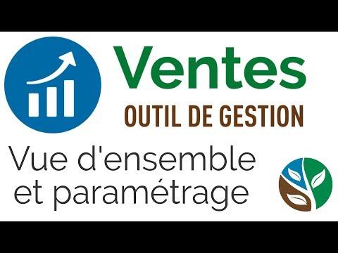 Registre de ventes du CETAB+: Vue d'ensemble et paramétrage