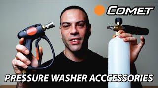 Comet Pressure Washer Accessory Options (Standard vs Pro Detailer Kit)