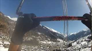 world record 1500m high snowkite flight