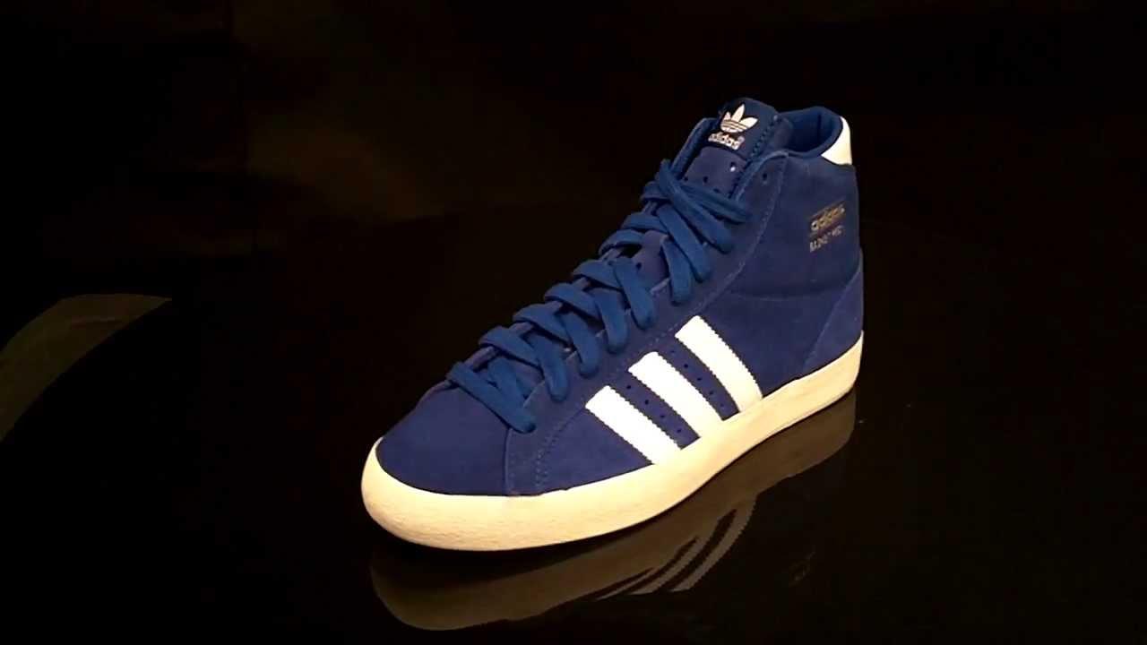 new style fcddb cf590 Adidas Basket Profi True Blue RunWhite Ecru Q23334