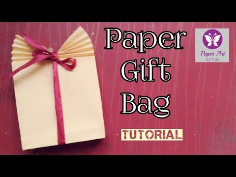 Paper Gift Bag || Easy Paper Bag making Tutorial_35