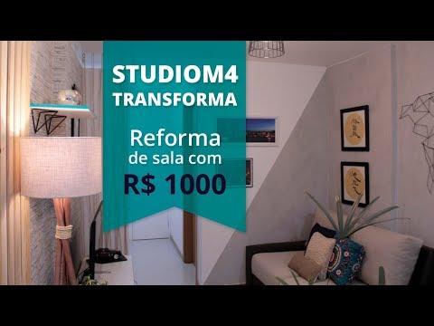 REFORMA DE SALA DE ESTAR COM MIL REAIS | #STUDIOM4TRANSFORMA