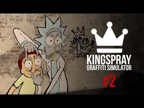 [ Kingspray Graffiti Simulator ] EP2: Painting Adventure Time, Rick & Morty, and Damascus Apparel