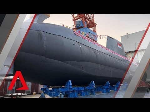 Launch of the Invincible, Republic of Singapore Navy's new submarine Mp3