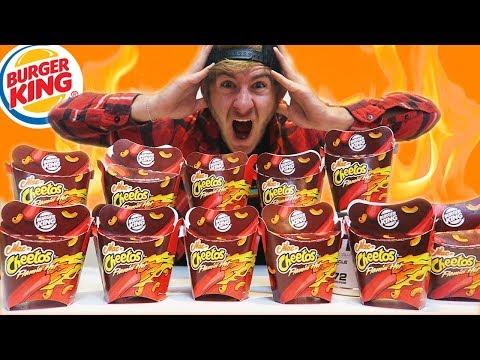 BURGER KING FLAMIN' MAC N' CHEETOS CHALLENGE   12 BOXES