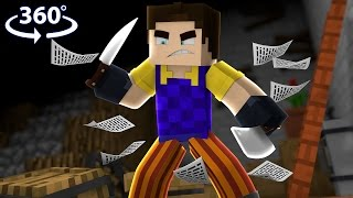 Hello Neighbor - 360° Minecraft Video (Hello Neighbor Minecraft Roleplay)