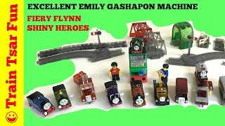 excellent emily gashapon machine thomas train fiery flynn shiny rescue heroes takara tomy arts