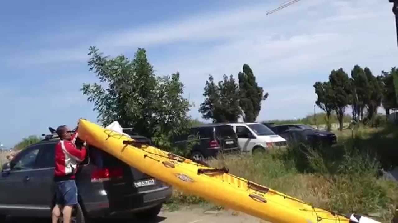Loading Kayak Hobie Tandem Island On Suv Funnydog Tv