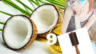 ►9. Как использовать кокосовое масло для волос, деревянная расческа с натуральной щетиной(Рассказываю про кококсовое масло для волос (применение) и круглую деревянную расческу-щетку из натуральной..., 2014-02-17T18:51:25.000Z)