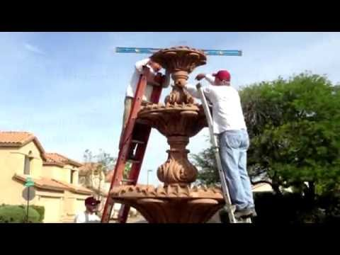 Painting Concrete Fountains