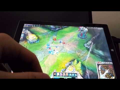 Surface Pro 3 i5 4g Gameplay - League of Legends