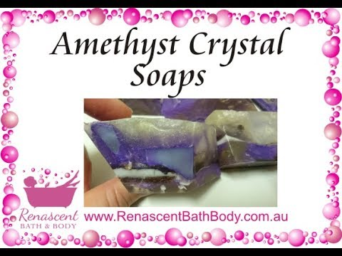 Soap Art - Making Amethyst Geode Crystal Soaps
