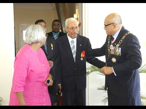 Fijian President officiates the Investiture Ceremony part 2 of 2.