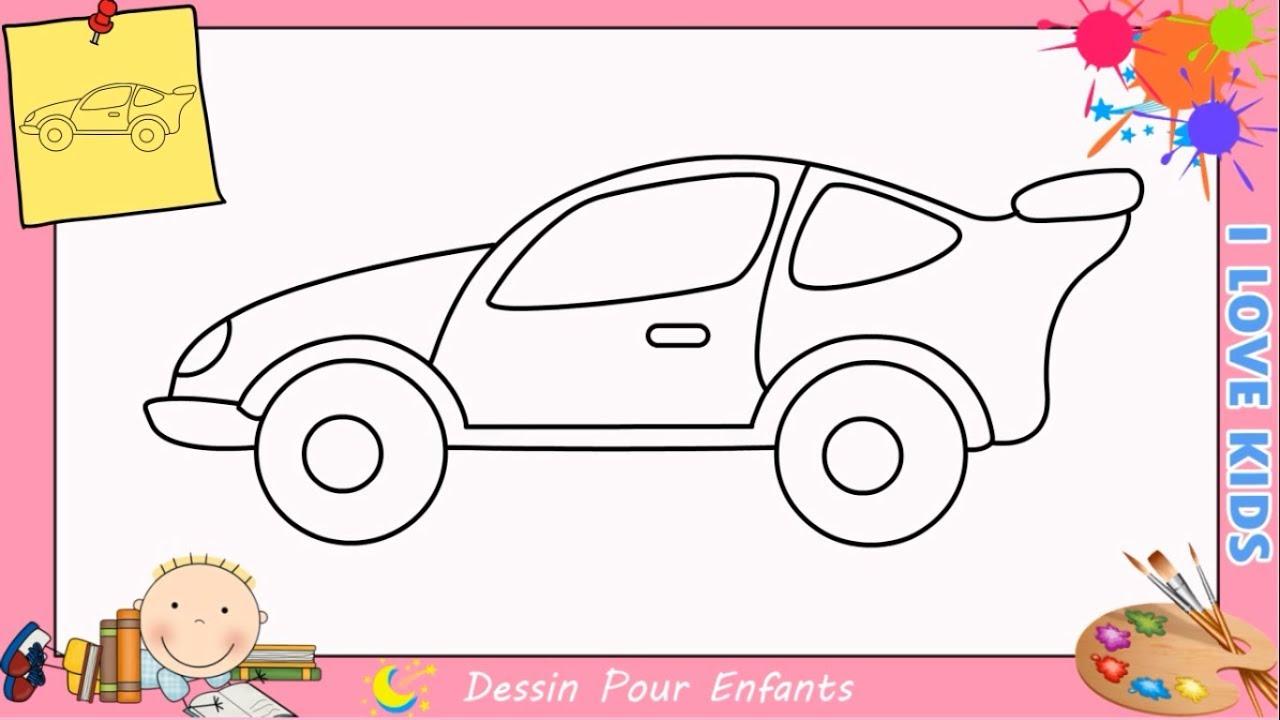 Comment dessiner une voiture facilement etape par etape pour enfants 7 youtube - Dessiner voiture de course ...