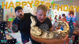Snakes On The Loose In Daily Bumps House! HAPPY BIRTHDAY SURPRISE!