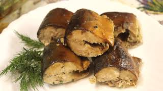 Рыба запечённая в духовке.  Рецепт рыбного блюда. Скумбрия с картошкой и луком.