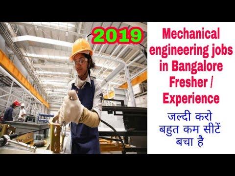 Mechanical Engineer Jobs In Bangalore 2019