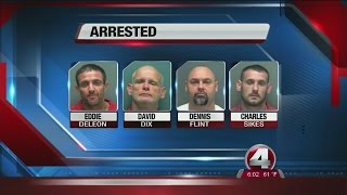 Four arrested in massive auto theft ring