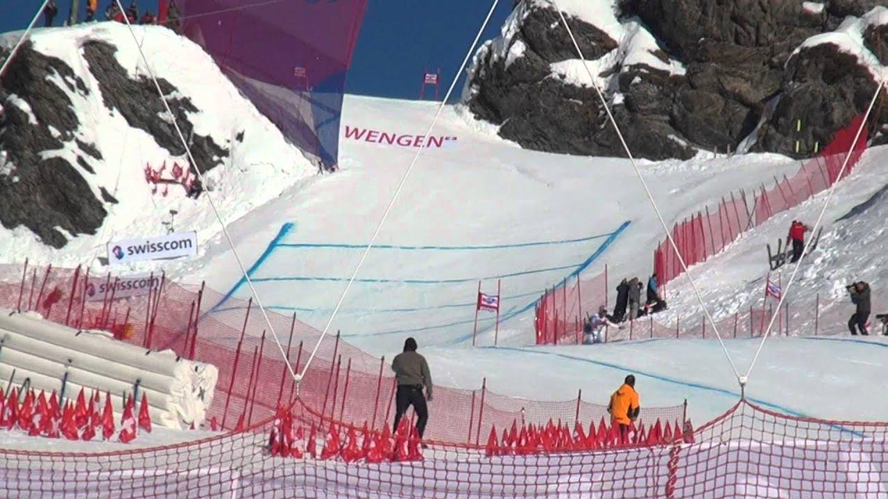 Lauberhorn Rennen Ski Race Hundschopf Jump Youtube