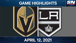 NHL Game Highlights | Golden Knights vs. Kings - Apr. 12, 2021