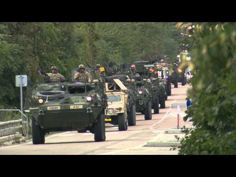 US Army convoy passing through Czech Republic - 09/2015