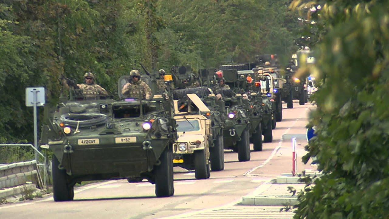 us army convoy passing through czech republic 092015 youtube