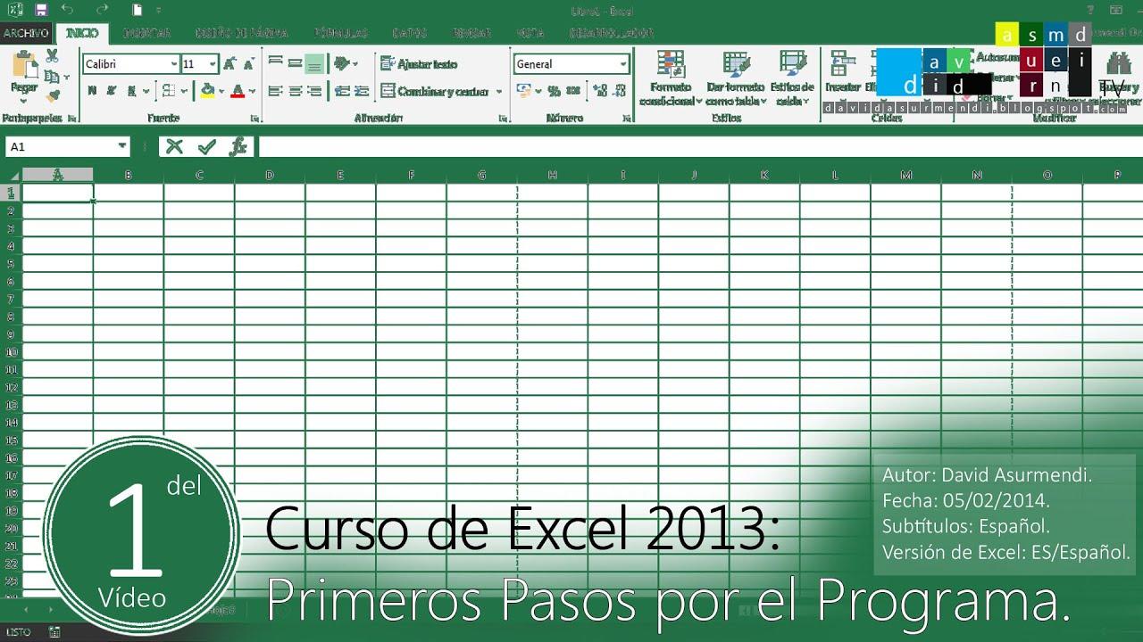 Download Curso Excel 2013 Completo en Español. Primeros Pasos Básicos por el Programa.