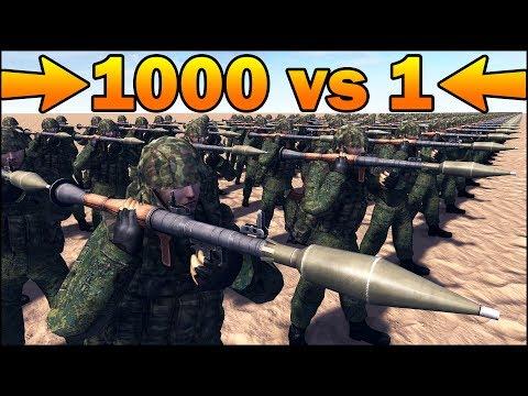 1000 RPG-7 Vs 1 MODERNIZED LANDKREUZER P.1000 RATTE - MISSION IMPOSSIBLE - Call To Arms Scenario #9