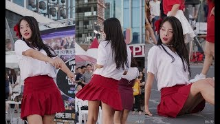 180825 댄스팀 레이디비 시온 직캠 - 짧은치마 (AOA) (신촌 버스킹) By 애니닷