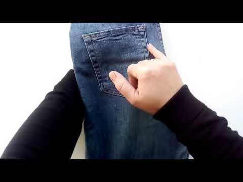 Как зашить дырку на джинсах возле кармана
